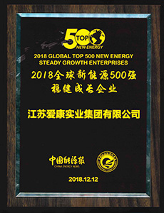 Enterprise with Stable Development in Global New Energy Top 500 in 2018